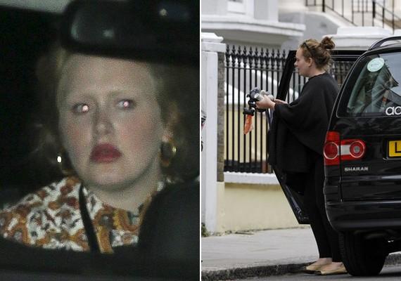 Adele eddig a hátsó ülésről élvezhette a kocsikázás örömeit, de hamarosan már ő is a volán mögé ülhet. Reméljük, vezetni kevésbé ijedt arccal fog, mint ahogyan utazik.