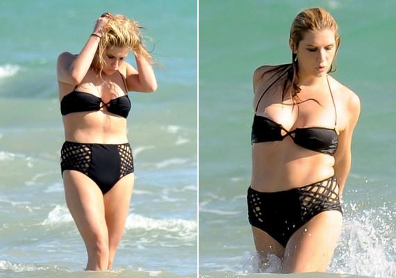 Kesha egyébként kisportolt teste néha sztrájkol, és ezt a hatalmas, ormótlan alsó és a tartás nélküli felső sem tudta elfedni.