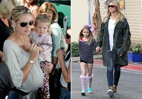 Heidi Klum kislánya, Leni már most úgy vonul az utcán édesanyja mellett, akár egy topmodell, pedig még csak kilencéves.