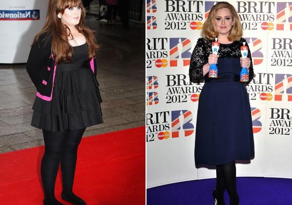 Adele rengeteget fogyott, majd gyereket szült, de nem ezután szaladtak vissza rá a kilók. Nézd meg, hogyan változott az énekesnő!