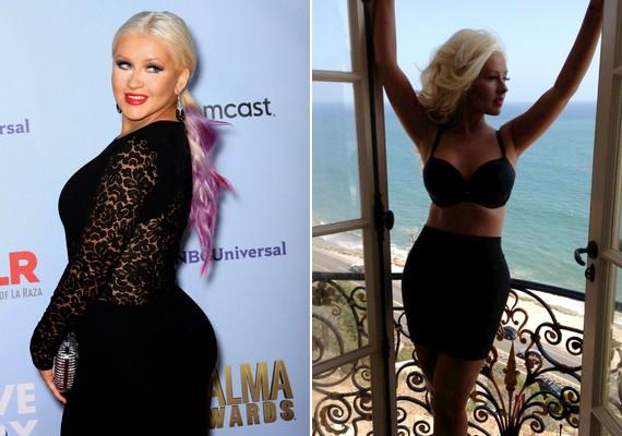 Megdöbbentő változáson ment át az utóbbi fél évben Christina Aguilera teste: visszanyerte régi önmagát.