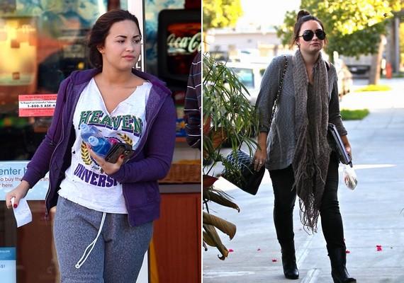Demi Lovato étkezési zavarral küzd, és ez a külsején is meglátszik: hol kerekded, hol vékony.