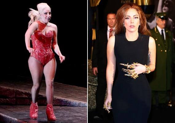 Lady Gaga nem mindig tartja a súlyát: volt egy időszak, amikor kifejezetten gömbölyű volt. Idén azonban újra karcsú.