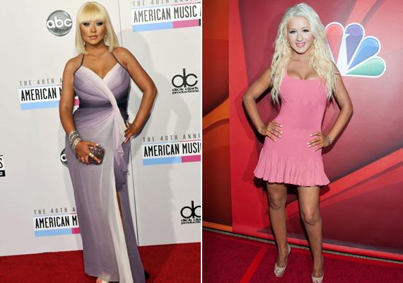 Christina Aguilerát sok kritika érte a súlya miatt, ezért nemrégiben radikális diétába fogott. Az eredmény szemmel látható.