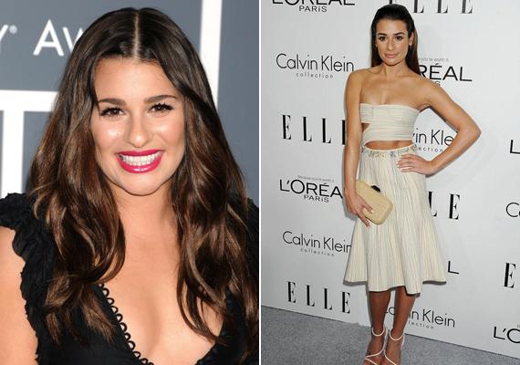 Corey Monteith tragikus halála óta Lea Michele látványosan sokat fogyott. Az Elle magazin partiján mindenki meglepődött a színésznő külsején.