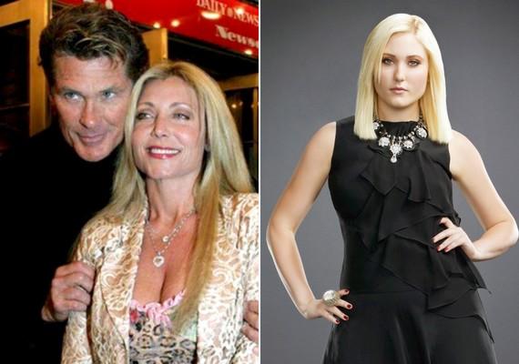 Szintén színészi pályára lépett a 20 éves Hayley Hasselhoff, David Hasselhoff és Pamela Bach lánya.