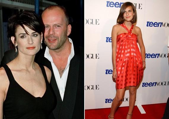 Bruce Willis és Demi Moore három kissé csúnyácska lánya, Rumer, Scout és Tallulah közül talán az utóbbi rendelkezik a legelőnyösebb külső tulajdonságokkal.
