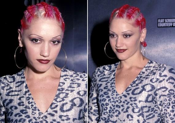 Nem elég, hogy pink lett a haja, még be is fonatta a tincseit Gwen Stefani.