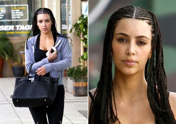 Kim Kardashian frizurája nemes egyszerűséggel vicces.