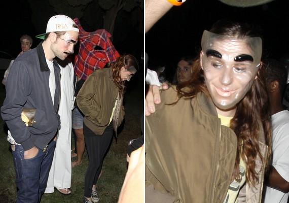 Kristen Stewart és Robert Pattinson nem túl szép, de annál hatásosabb maszkokat választottak.