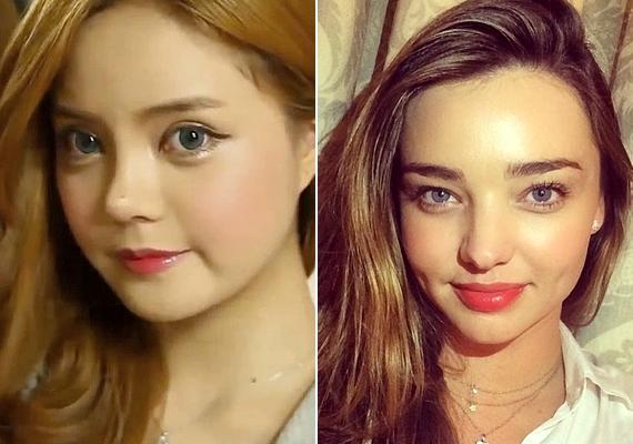 Egy koreai lány Miranda Kerr-re szeretett volna hasonlítani, ezért teljesen eltüntette az eredeti vonásait, átszabatta a szemét és az orrát is.