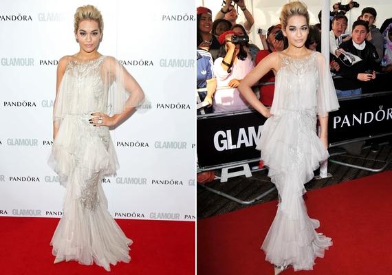 Rita Ora a Glamour Women of the Year díjátadóján valóságos dívának öltözött.