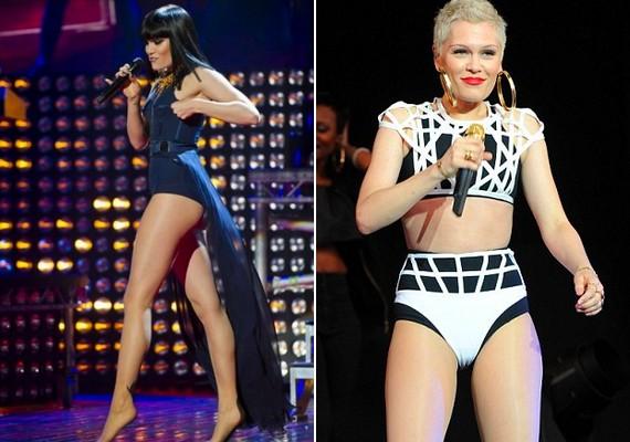 Jessie J fekete és szőke hajjal is szívesen visel falatnyi ruhákat. A 25 éves sztár büszke a lábaira.