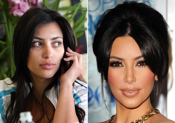 Kim Kardashian nem titkolja, hogy mindig vastag réteg alapozót ken magára, ha nyilvánosan kell megjelennie. Viszont ha csak a közeli étterembe szalad be, ő sem mindig veszi elő a kelléktárát.