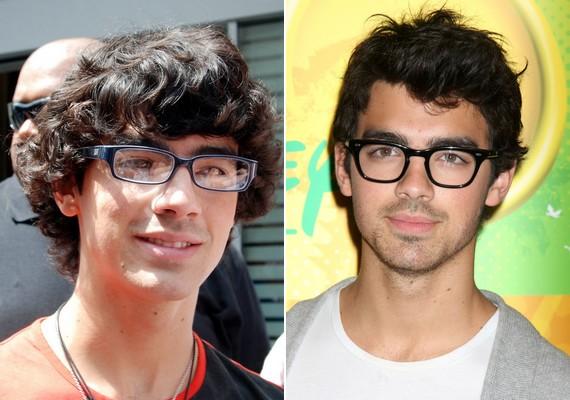 Joe Jonas példája remekül bemutatja, hogy mennyit számít egy jól megválasztott darab: a régebbi fotón nagyon előnytelen volt neki a szemüveg, a jobb oldali képen pedig mintha ráöntötték volna.