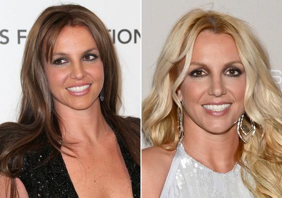 Britney Spears is a közelmúltban cserélte le világos hajszínét a barnára.