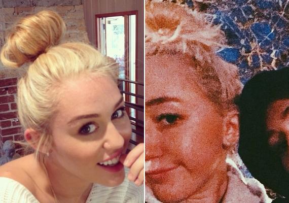 Noah Cyrus szintén felnéz a nővérére: ugyanolyan szőkére festette a haját, mint Miley, és még a kontyot is elleste tőle.