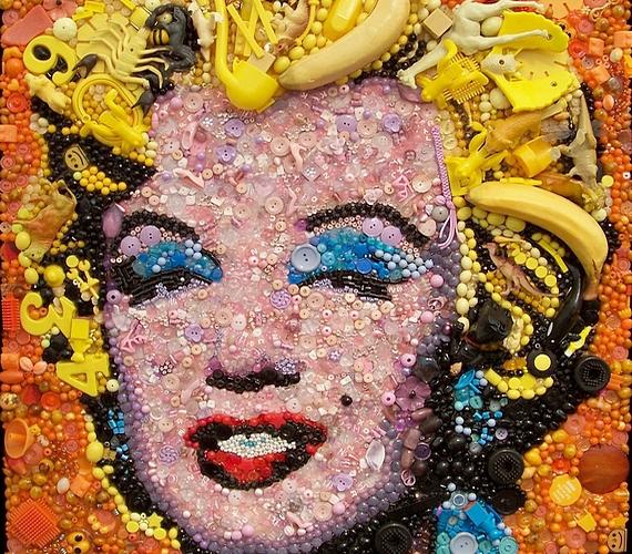 Marilyn Monroe portréjához még banánt is használt.