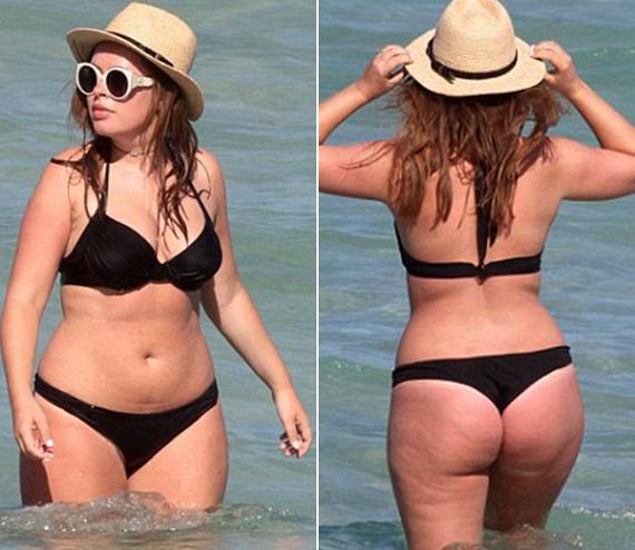 Tanya valóban nem sovány, és a fenekén van egy kis narancsbőr - ahogy a legtöbb nőnek -, de a kövérségtől messze van, és szép, arányos homokóra alakkal rendelkezik.