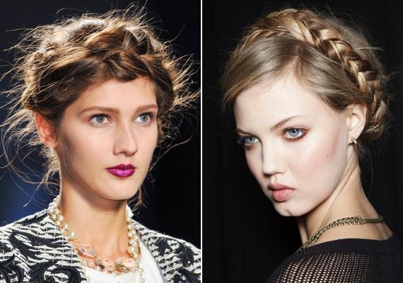 Ha hosszú hajad van, próbáld ki a koszorúba font fürtöket! Ide kattintva megnézheted, hogyan készül a romantikus frizura.