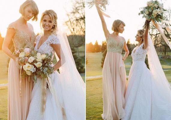 Taylor Swift és Britany Maack gyerekkoruk óta barátnők, így Brit számára nem is volt kérdés, hogy ki legyen a fő koszorúslány az esküvőjén.