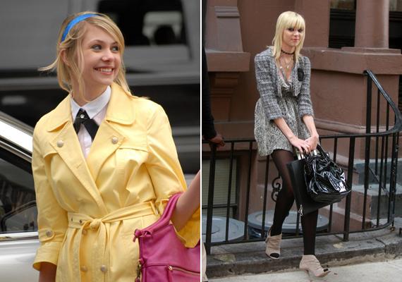A Gossip Girlben egészen más stílusú ruhákat visel.