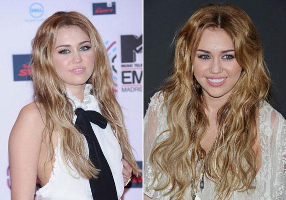 Korábban Miley Cyrus is a szőkék táborát erősítette...