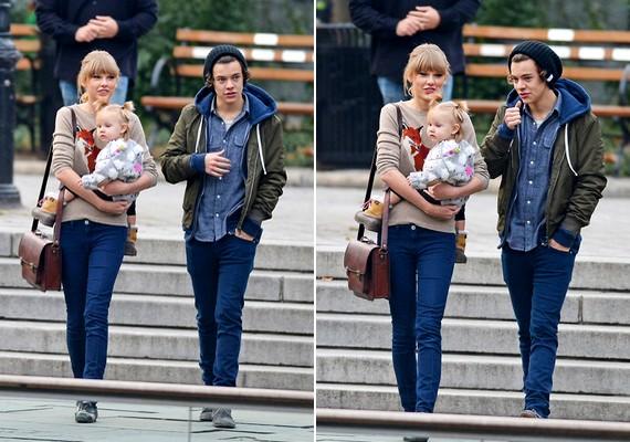 Taylor sokáig cipelte kezében a kislányt - olyanok voltak, akár egy friss család.