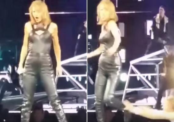 A történteket egy rajongó vette fel, és bár a videó nem túl jó minőségű, a lényeg látszik rajta. Taylor békésen táncol és énekel, amikor bal oldalánál feltűnik az inzultáló rajongó.
