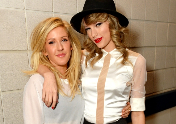 Taylor Swift legújabb pajtása Ellie Goulding, akivel az elmúlt időszakban több közös fellépése is volt.