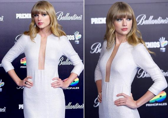 A napokban megrendezett spanyolországi 40 Principales Awardson viselt ruhája majdnem a köldökéig volt kivágva