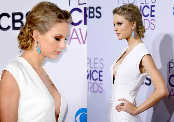 A People's Choise Awards után sokan mellplasztikára gyanakodtak, és még a heget is látni vélték Taylor hóna alatt.