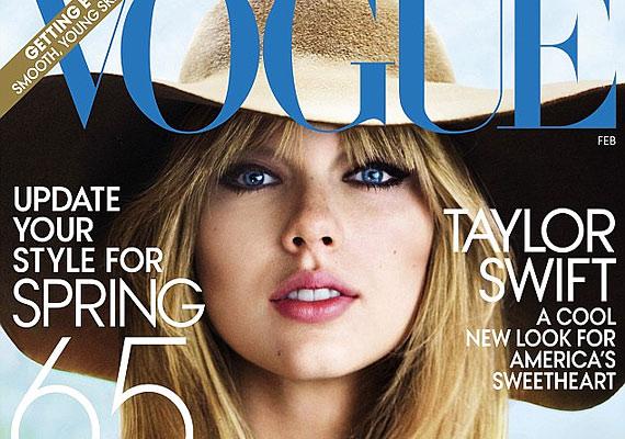 A Vogue címlapján Taylor egy nagyon nőies kalapot visel. Szerintünk nagyon jól áll neki!