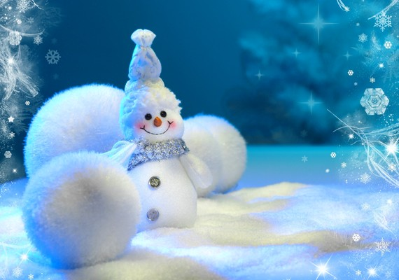 A tél legcukibb dolga a hóember.Kattints ide a nagy felbontású képért! »