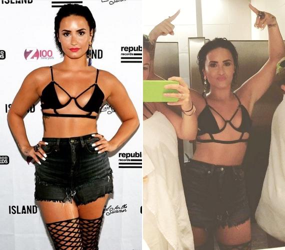 Demi Lovato nekivetkőzött a 2015-ös Cool for the Summer koncertsorozat kedvéért: rögtön ezzel a keveset takaró öltözékkel nyitott az első bulin.