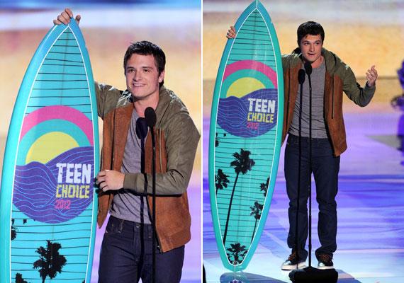 Ugyanezt a díjat a sci-fi és fantasy kategóriában Josh Hutcherson kapta az Éhezők viadalában nyújtott teljesítményéért.