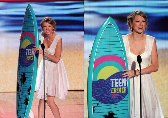 Taylor Swift a legjobb női előadónak járó díjat kapta meg.