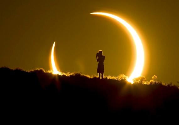 Gyűrűs napfogyatkozás, Coleen Pinski fotója.