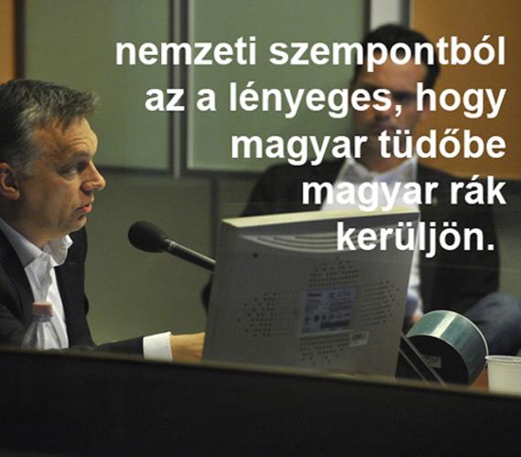 A miniszterelnök, Orbán Viktor mindig vállalja a véleményét.