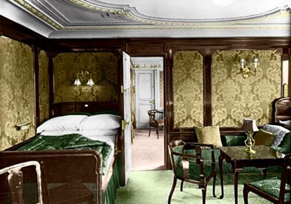 Számos luxuslakosztályt építettek a Titanicra, ahol a gazdag utasokat szállásolták el.