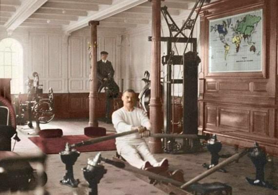 Még edzőterem is volt a hajó fedélzetén.