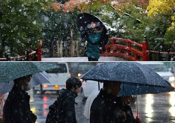 Tokióban 1962-ben esett utoljára ilyen korán a hó, ami ráadásul meg is marad, erre pedig az 1875-ben kezdődő feljegyzések szerint még soha nem volt példa.