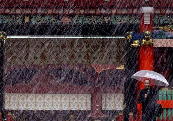 Ma mindenkit meglepett az óriási havazás Tokióban, ami a vártnál 40 nappal korábban érkezett meg a japán fővárosba.
