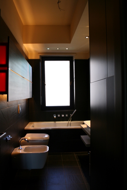Fekete fürdőszoba