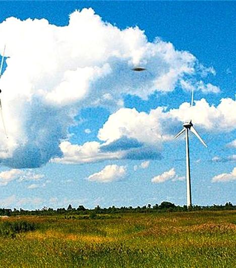 Észtországban készült a kép, melynek története szerint a fotós, Avo Siim a felhőket örökítette meg gépével egy augusztusi délutánon, 2009-ben. A fotózás során állítólag nem lett figyelmes a furcsa foltra, ami az égen látható - annak jelenléte már csak ütötte meg a szemét, amikor otthon visszanézte a kész képeket.