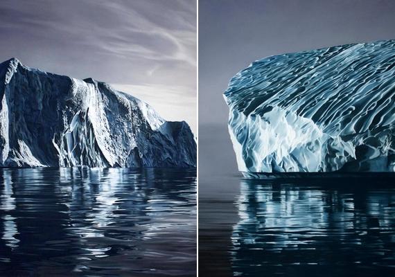 Félelmetes jéghegyek: mintha profi fotókat nézegetnél.