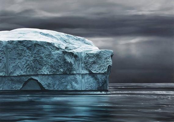 Zaria Forman némelyik munkája beszédesebb, mint egy fotó.