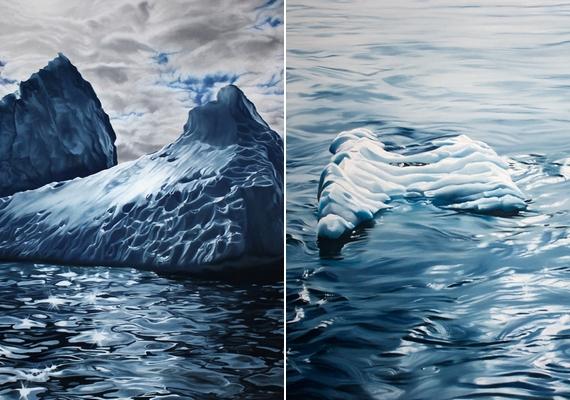 A vizet különösen szépen ábrázolja a művésznő.