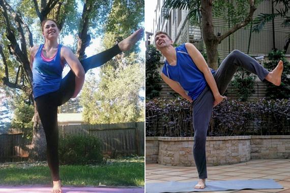 Meredith, a jóga szerelmese a legbonyolultabb pózt is képes tökéletesen kivitelezni. Bátyja gondolt egyet, és újraértelmezte a kétgyermekes anyuka fotóit: ilyen az, ha egy kevésbé gyakorlott személy próbálkozik ezzel a sporttal.