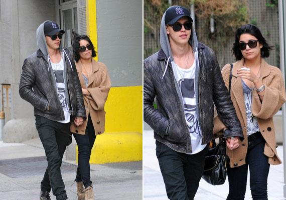 Vanessa és Austin a szeles időben indultak egy romantikus sétára.